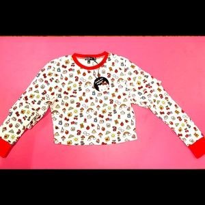 Dolls Kill Hello Kitty Cropped Thermal Top
